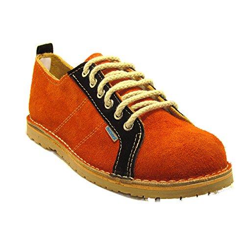 R906FP - Zapato deportivo naranja - negro