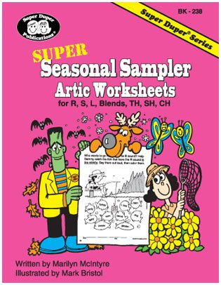 Super Seasonal Sampler Artic Worksheets for R, S, L, CH, TH, SH, and R/S/L Blends (Super Duper -