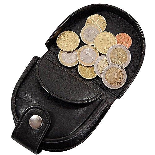 Branco Herren Schütter Geldbörse Leder Kleingeldbörse Münzbörse Schüttbörse Portemonnaie Geldbeutel Börse GoBago (Schwarz) Braun NgJLmV1bZ