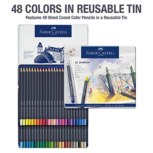 Faber-Castell Creative Studio Goldfaber Color Pencils - Tin of 48 by Faber-Castell (Image #1)