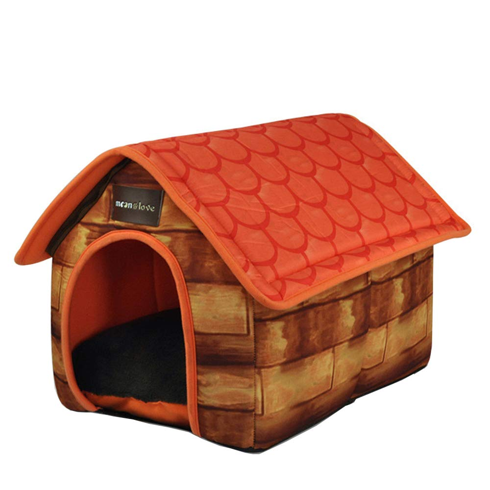 Fairytale Villa Cow color room type dog house, four seasons universal pet house, removable pet nest, suitable for small and medium dogs around 20KG