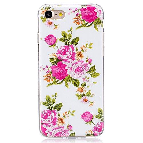 Noctilucent IMD TPU Mobile Phone Tasche Hüllen Schutzhülle - Case für iPhone 7 4.7 - Blooming Peonies