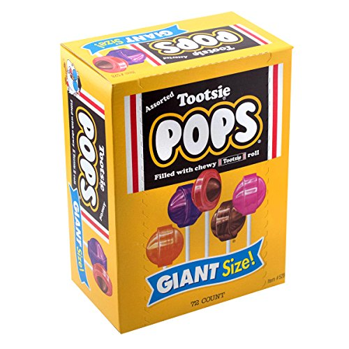 Tootsie Pops Giant Size for Easter Baskets, 3.82 lb, 72Count ()