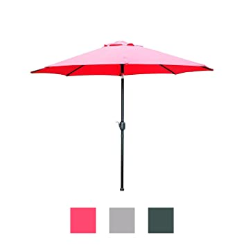 Pretty Amazoncom  Blissun  Patio Umbrella Aluminum Manual Push Button  With Lovable Blissun  Patio Umbrella Aluminum Manual Push Button Tilt And Crank Garden  Parasol Red With Astounding Kew Gardens Surrey Also Costco Garden Storage In Addition Nail Parlour Welwyn Garden City And Garden Cascade Waterfall As Well As Hi Sushi Covent Garden Buffet Additionally Kids Garden Bench From Amazoncom With   Lovable Amazoncom  Blissun  Patio Umbrella Aluminum Manual Push Button  With Astounding Blissun  Patio Umbrella Aluminum Manual Push Button Tilt And Crank Garden  Parasol Red And Pretty Kew Gardens Surrey Also Costco Garden Storage In Addition Nail Parlour Welwyn Garden City From Amazoncom