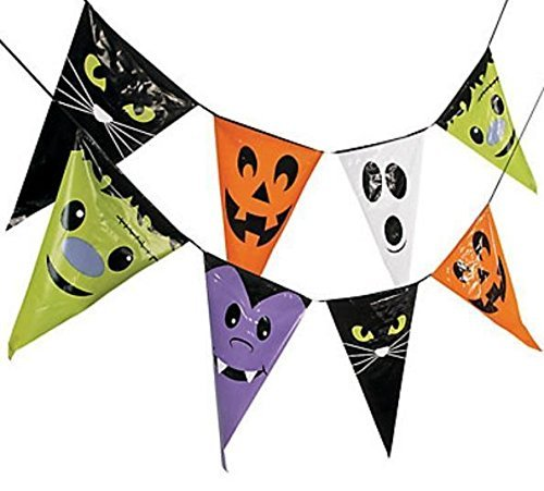 Large Halloween Character Pennant Banner / Sign Party Decoration, 24 ft. x 28