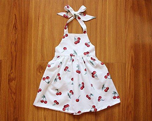 Cherry Baby Girl Beach Dress Girls Sundress Backless Dress