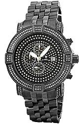"JBW Men's JB-6115-569-E ""Gotham"" Chronograph 5.70 Carat Silver Pave Diamond Watch"