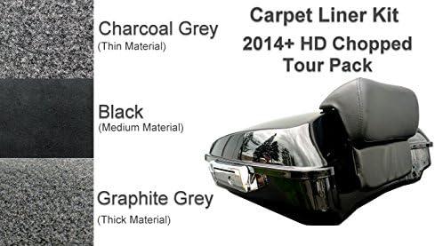 Carpet Liner Kit for 2014-2018 One Latch Style Harley-Davidson King Tour Pak Pack Black