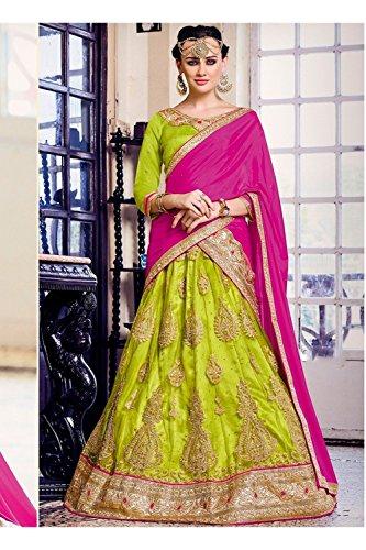 Da Facioun Indian Women Designer Wedding green Lehenga Choli K-4640-40746