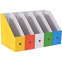 Revistero de Cartón, 5 Piezas Revista Archivador Papel Kraft, Revistero Papel Kraft, Revista Archivos Cartón, para…