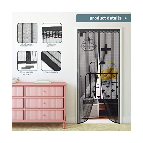 51j5y5zPsdL Magnet Fliegengitter Tür Vorhang für Holz