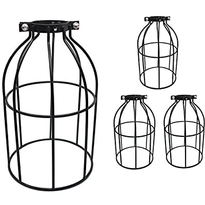 SooFoo Lamp Guard Pack Industrial Vintage Style Cage Lihgt for Pendant String Lights and Vintage Lamp Holders-Pack of 3
