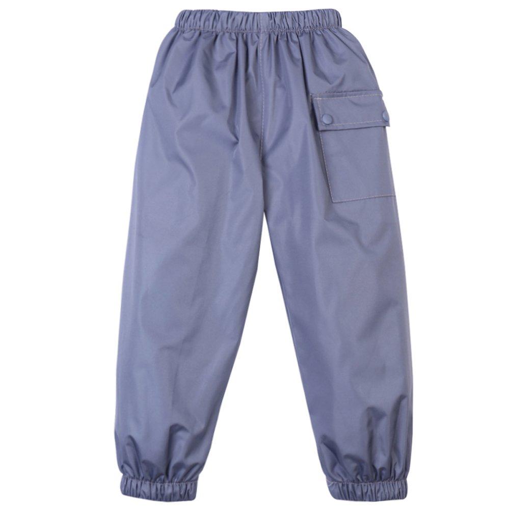 LZH Toddler Girls Boys Rain Pants Waterproof Flower Print Rainwear