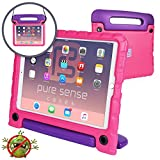 (US) Pure Sense Buddy [Anti-Microbial Kids Case] Child Proof case for iPad Pro 10.5-inch | Rugged Cover: Stand, Handle, Shoulder Strap | A1701 A1709 (Pink)