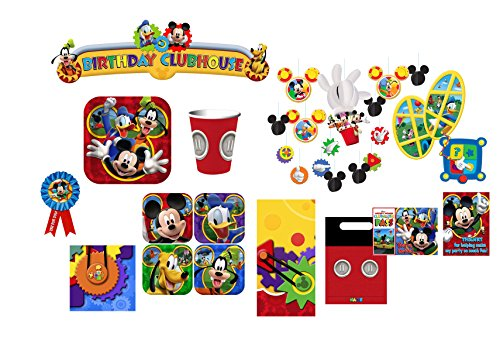 [Hallmark 8-Person Birthday Party Combo Pack - Mickey Mouse Clubhouse] (Mickey Mouse Clubhouse Plates)