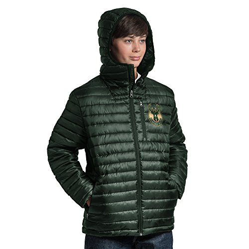 G-III Sports NBA Milwaukee Bucks Equator Quilted Jacket, Large, Green from G-III Sports