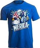 MERICA | Epic USA Patriotic American Party Patriot Unisex T-shirt Men Women-Adult,L Royal Blue Larger Image