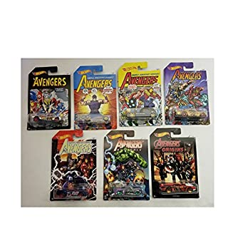 Hot Wheels Avenger Series 1-7 Set Bedlam, Purple Passion, Qombee, Night Shifter, Pony-up, Jaded, Rivited All in 1 Set of 7