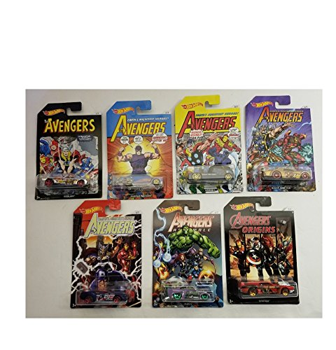 Hot Wheels Avenger Series 1-7 Set Bedlam, Purple Passion, Qo