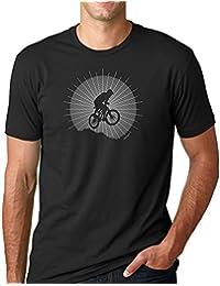 "<span class=""a-offscreen"">[Sponsored]</span>Mountain Bike Catching Air Screen Printed Graphic T Shirt Mens"