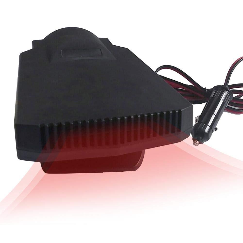 Finelyty Ventilatore di Aria Calda Ventola di Raffreddamento per autoveicoli Riscaldamento a Caldo Caldo Parabrezza Demister Sbrinatore Auto Portatile Riscaldatore per Auto DC 12V 250 W