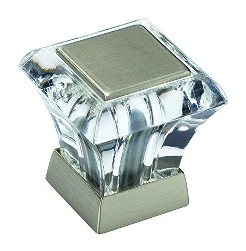 Amerock BP29460CG10 Abernathy 1-1/16in(27mm) LGTH Knob - Clear/Satin Nickel