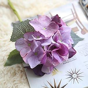 YJYdada Artificial Silk Fake Flowers Hydrangea Floral Wedding Bouquet Party Decor (I) 2