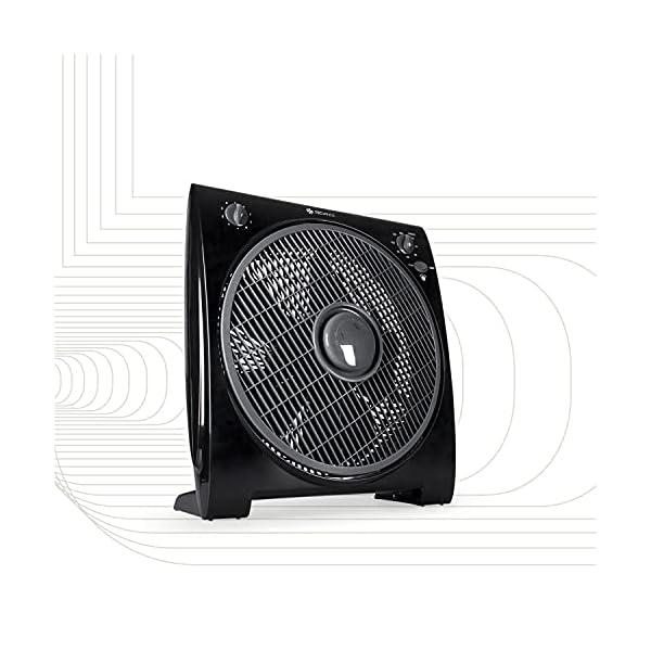 51j6%2BY6iuuS Tecvance, Schwarz Box Fan Ventilator (32 cm) -Raumventilator mit 4 Stufen und Timer, Kleiner, leiser & leistungsstarker…