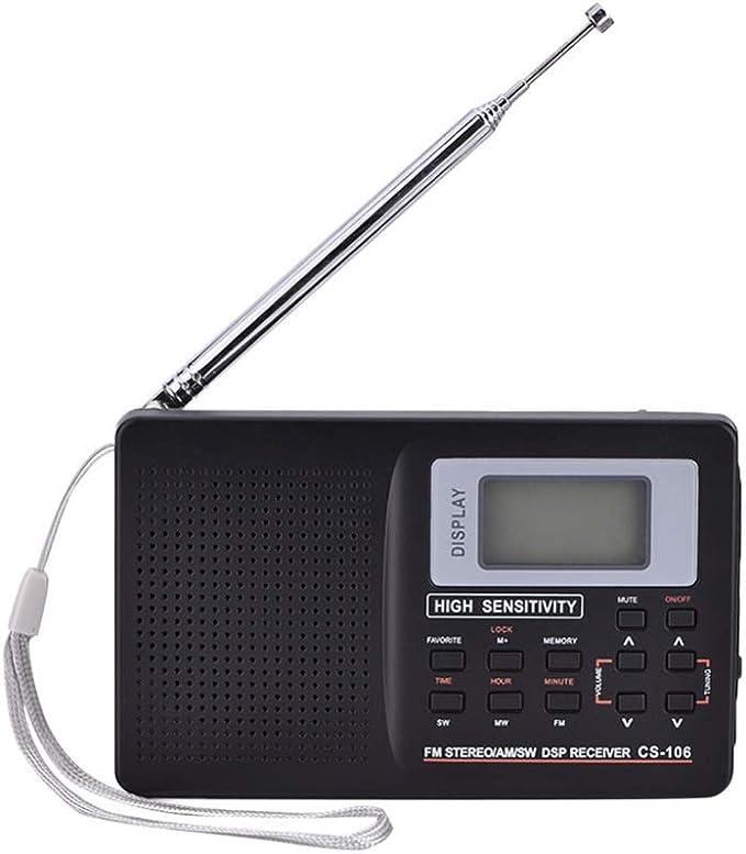 BAYUE Radio portátil Am/FM/SW DSP Radio de Onda Corta ...