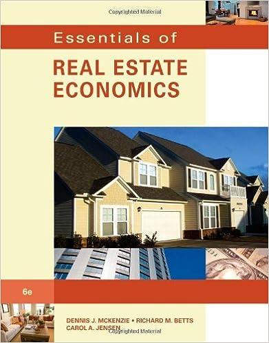 Read online Essentials of Real Estate Economics: 6th (Sixfth) Edition PDF, azw (Kindle), ePub, doc, mobi