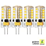 Sunix® 4pcs High Power G4 3W 36 SMD 2835 LED Silicone Spotlight Bulb Lamp Warm White Dimmable SU027