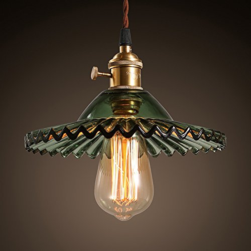 Country Old Iron Pendant - American country retro nostalgia of old Shanghai bar counter glass chandelier small single head
