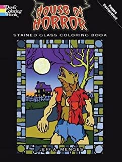 House Of Horror Stained Glass Coloring Book Dover