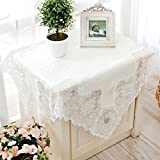Thai Embroidery,European Style,White,Imitation Silk,Modern Cloth/Lace,Fabrics ,Table Cloth/Round Table Cloth /Coffee Table Cloth-A 150x210cm(59x83inch)