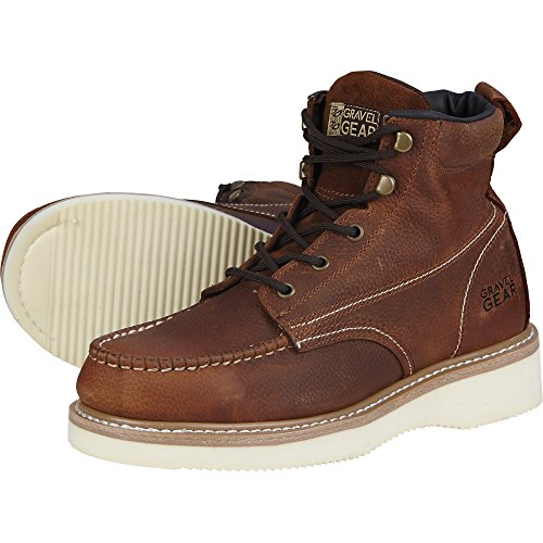 Moc Brown Wedge 11 Men's 6in Wide Boot 1 2 Toe Size Gravel Gear wUqna6