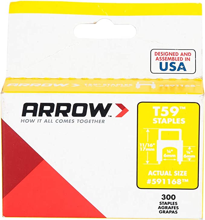 Arrow Fasterners Black T59 Insulated Staples 10 BOXES 300 each