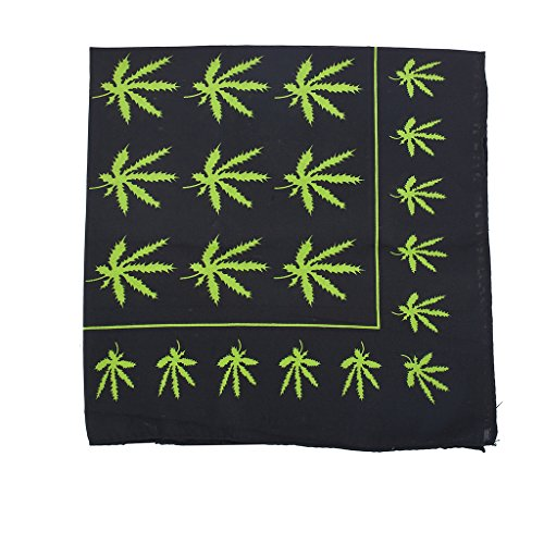 Lux Accessories Black Rasta Weed Smoker Hippie Marijuana Print Fashion Bandana