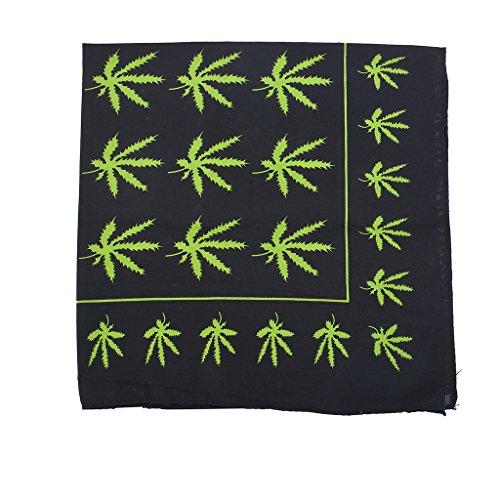 Lux Accessories Black Rasta Weed Smoker Hippie Marijuana Print Fashion Bandana