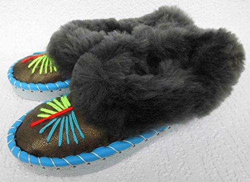 Lusy011 Lammfell Warme Hausschuhe Gr.35 Neu, Schaffell/-Leder (Made in Poland 3-83-7A)