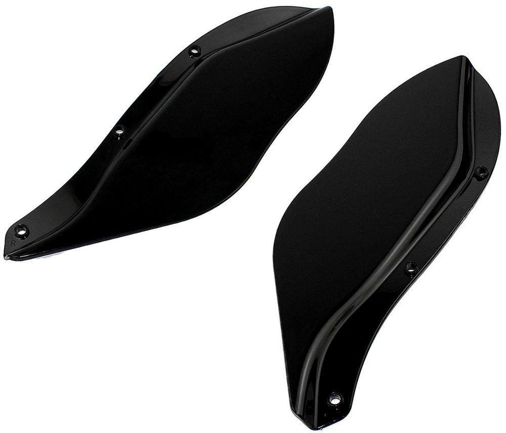 CBC Air Wind Deflectors for Harley Davidson-Touring Models 1996-2013 Black Smoked CaliBikerClub