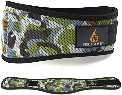 Fire Team Fit Weightlifting Belt, Olympic Lifting, Weight Belt, Weight Lifting Belt for Men and Women, 6 Inch, Back Support for Lifting, Squat and Deadlifting Workout Belt