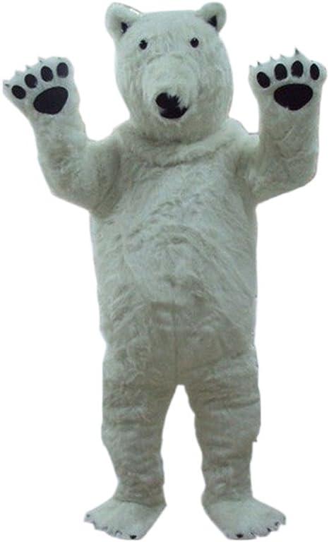 DREAM--STORE Blanco Oso Polar, diseño de Mascota Disfraz para ...