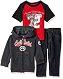Ecko Unltd. Big Boys' Jacket, T-Shirt and Pant Set (More Styles Available), SN83-Charcoal, 10