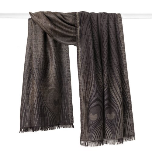Shawl Scarf Womens Shawls Warm like Pashmina Scarf Wrap Evening or Day Peacock Design by MMA