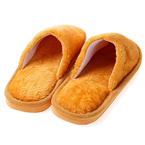 Pantoufles Confortable Femmes Peluche Chaussures Chaud Style Hommes Chaussons amp; Hiver Hommes Marron Fuyingda Coton CEBwRtYq