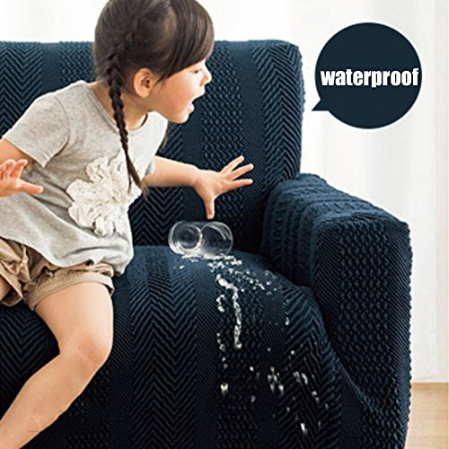 Waterproof Stretch couch covers,Elastic Sofa slipcover Full-cover Antiskid sofa towel cover For living room-B Chair by AMYDREAM (Image #2)