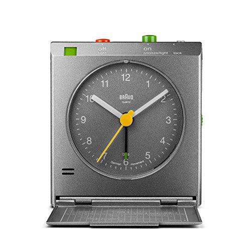 Braun BNC005GYGY Classic Motion Analog Quartz Alarm Clock