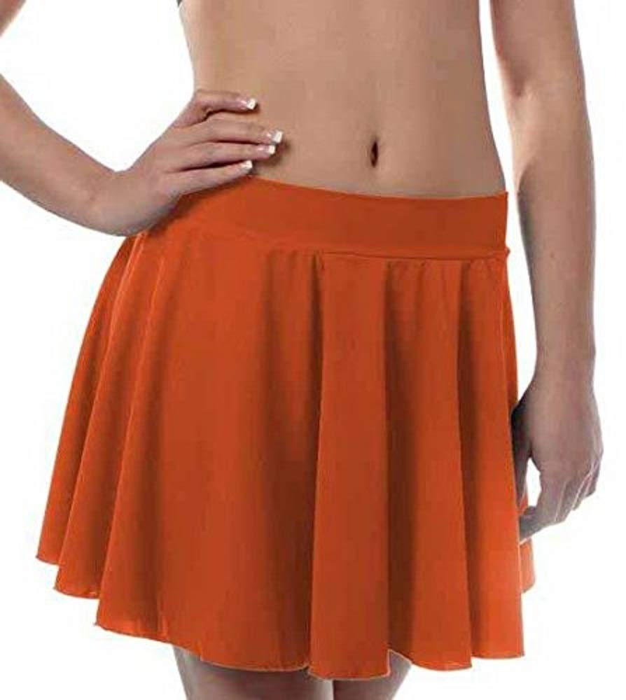 Girls Irish Dance Skirt X-Large Orange by B Dancewear Child Sizes by Bailar Dancewear