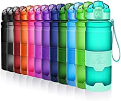 ZOUNICH Trinkflasche 1L Sport BPA frei Auslaufsicher 700ml/500ml/380ml Wasserflasche Kunststoff Sporttrinkflaschen...