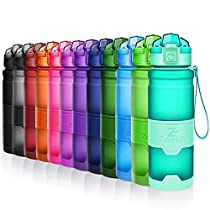 ZOUNICH Botella Agua Deporte Botellas Agua Niños sin BPA, Reutilizable Tritan Plástico Ecologica con Filtro,